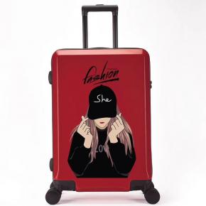 UV Printing Customized DIY picture ABS+PC Trolley suitcase set