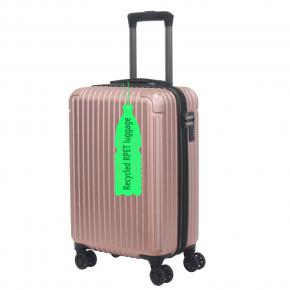 Eco Post-consumer Recycled plastic bottles RPET luggage