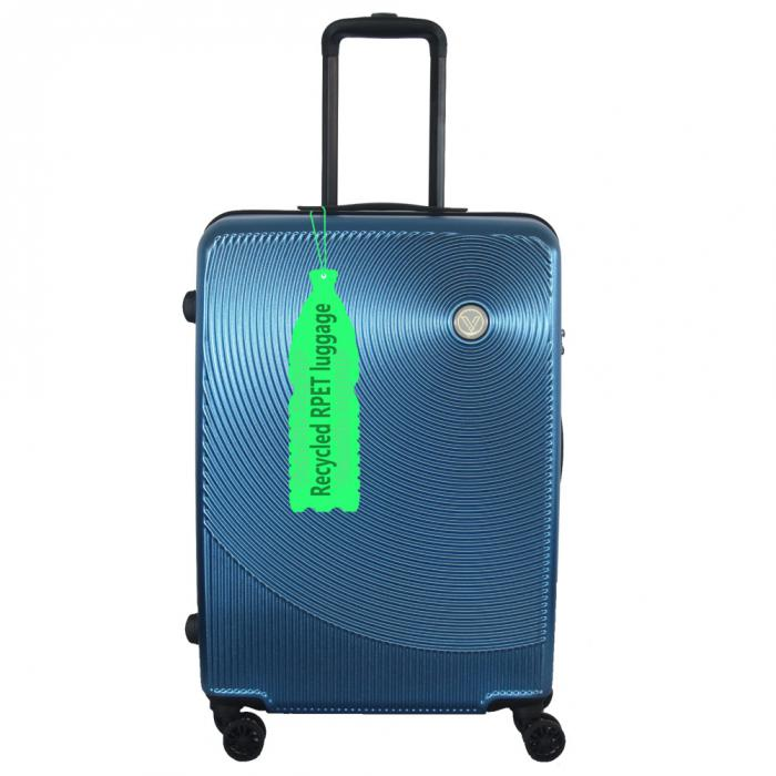 Youd Never Guess This Stylish ECO Hardside Luggage Was Made of Recycled PET Water Bottles