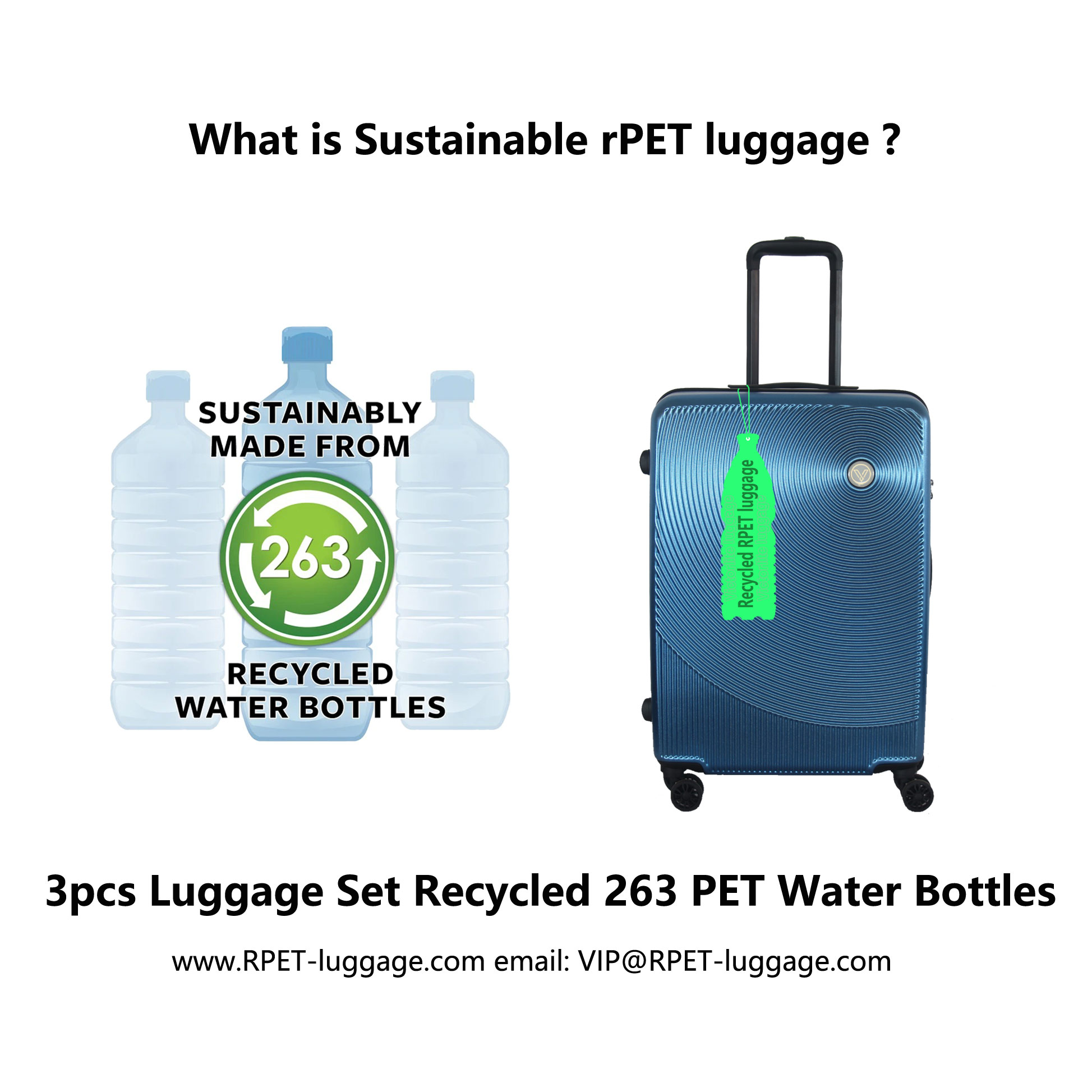 Sustainable rPET luggage Sustainable rPET suitcase